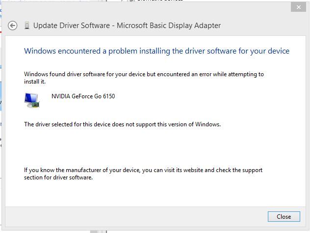 Windows 8 upgrade HP Pavilion tx1340ea NVIDIA drivers