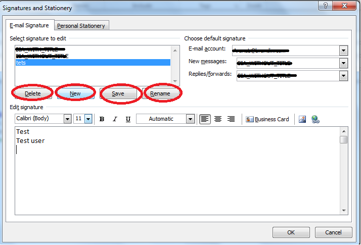 how to change your signature in outlook 2010