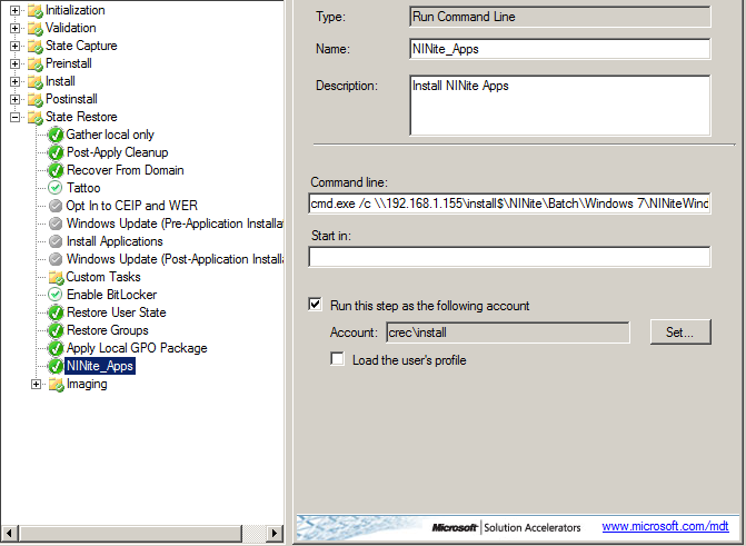 NINite Integration, vbs script,copy file from server and