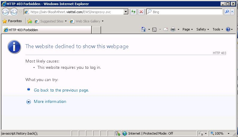 "Iis hosted wcf with ssl security -""the http request was forbidden."