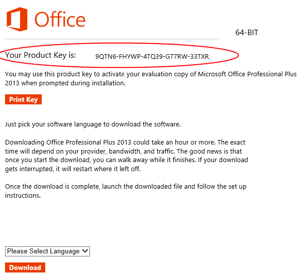 office 365 product key activation
