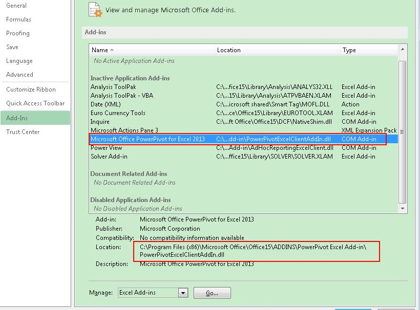 Download powerpivot add in for excel 2013 32 bit.