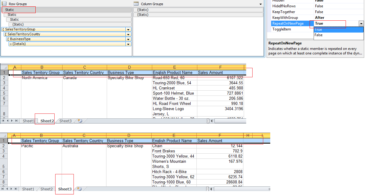 report studio multiple headers Forum thread about grouping with crosstab in reporting join the the table item to another non repeating section such as report header or unbound group header (group write a short review about telerik reporting and telerik report designer in visual studio gallery.