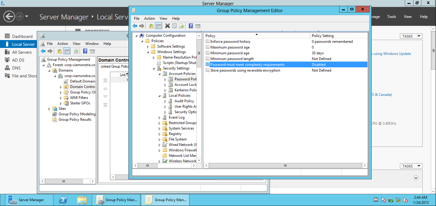 Group Policy Managment