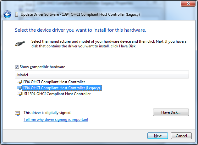 Firewire nec d72874 on windows7 all products ximea support.