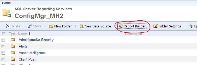Can't create reports