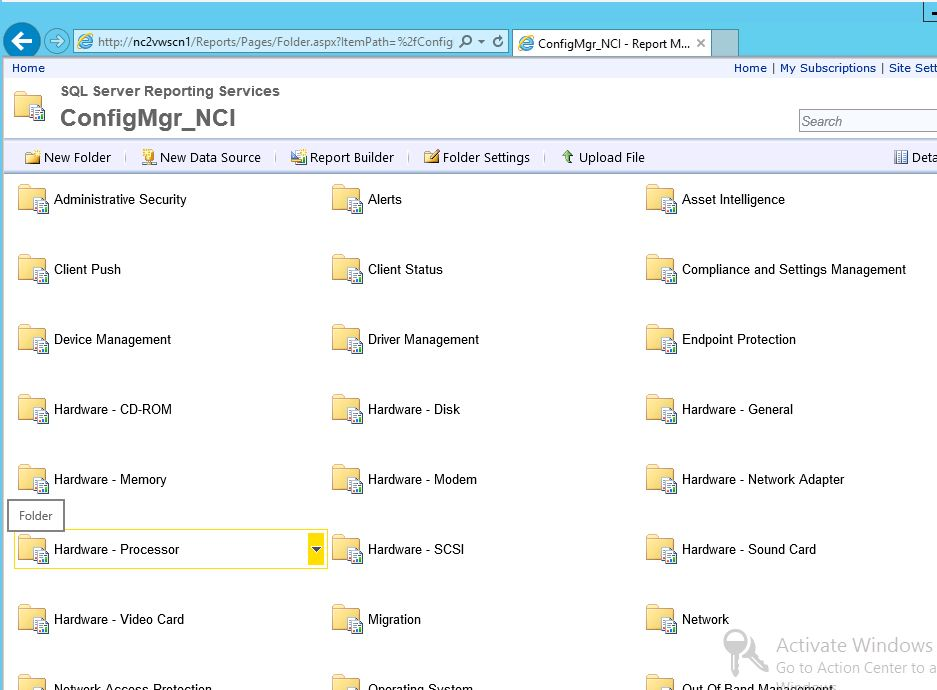 Reports not Generated after moving SCCM 2012 SP1 DB on SQL