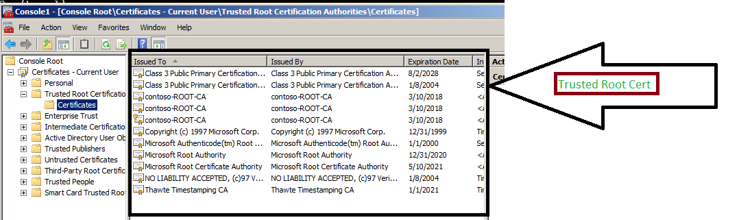 Turn off Automatic Root Certificates Update