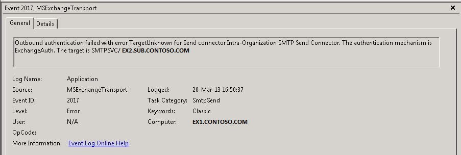 Exchange 2013 cannot send or receive, giving temporary ...