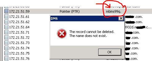 how to fix ptr reverse dns erorr