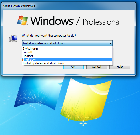 How to prevent Windows 7 install update when computer shuts