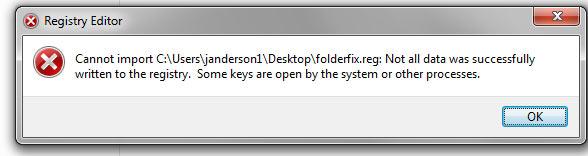 folderfix error
