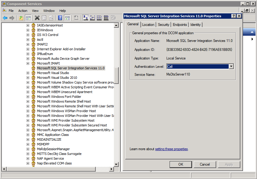 How to grant Component Services/DCOM permissions for an