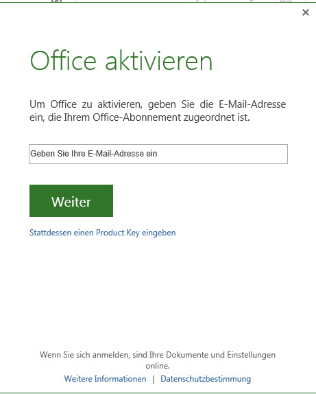 Project 2013 Evaluierung Office 2013 vorinstallierte OEM Version 64