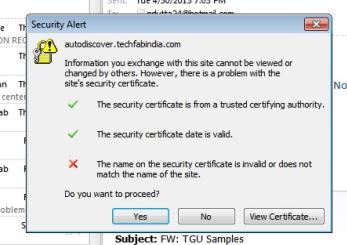 SSL cert error?