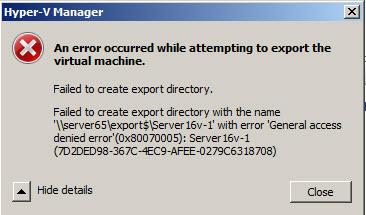 export error