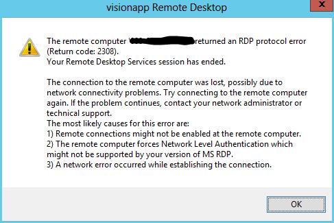 Cannot Remote Desktop in before logging on