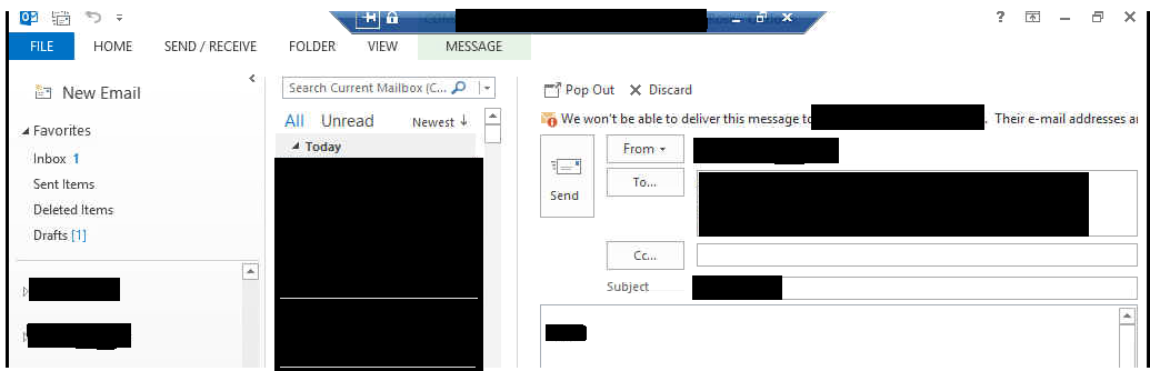 how to delete draft messages on outlook