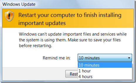 how to stop windows update notifications