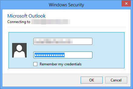 Outlook 2013 repeated password prompt when behind http for Window 365 login