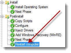 Install Operating system does not reboot - mdt 2012