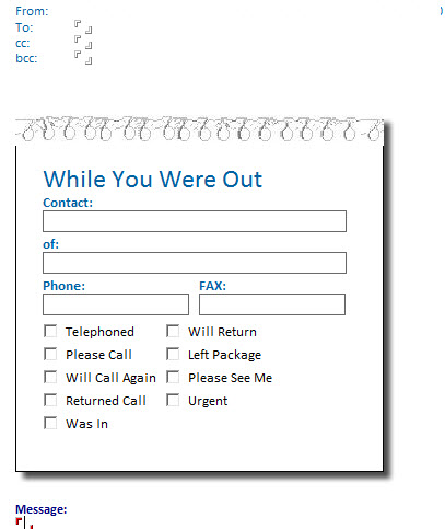 Phone Message Template on Outlook 2013 RmZceUt4
