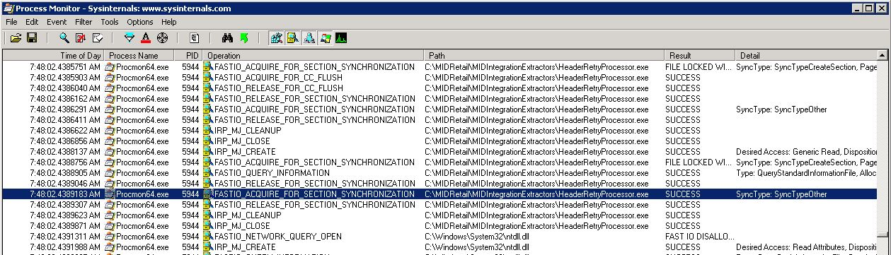 Sysinternals Process Monitor