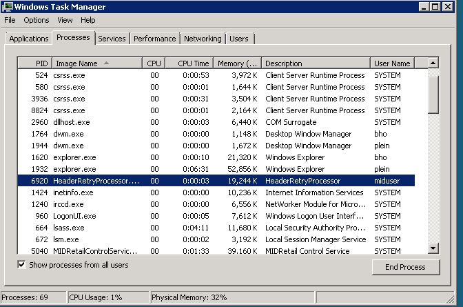 Process Name in Task Manager