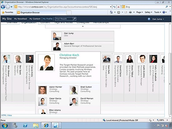 How to do organization chart in sharepoint 2010