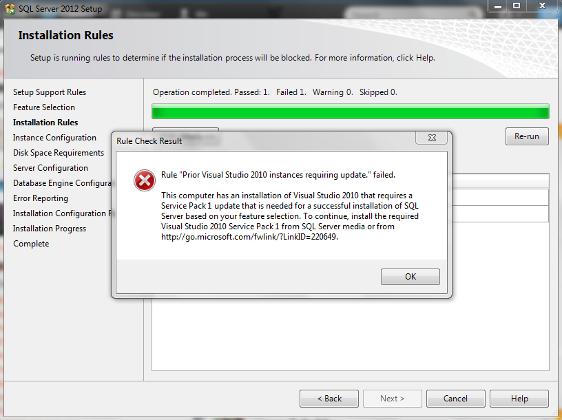 please can any body help me with this ,,I'm trying to install SQL server 2012 on win 7 64bit
