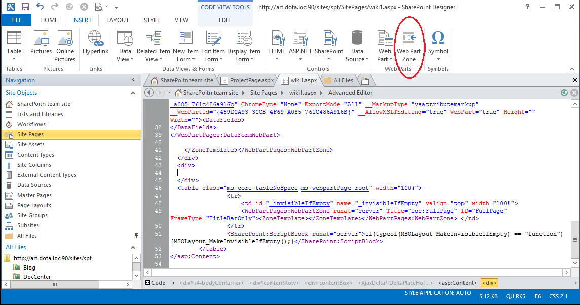 page and it is the same way for the layout page in advanced mode in sharepoint designer 2013 then modify the page layout and insert the web part zone
