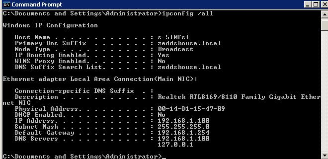 windows ip configuration ip routing enabled