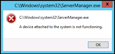 Server Manager fails to load with the error \