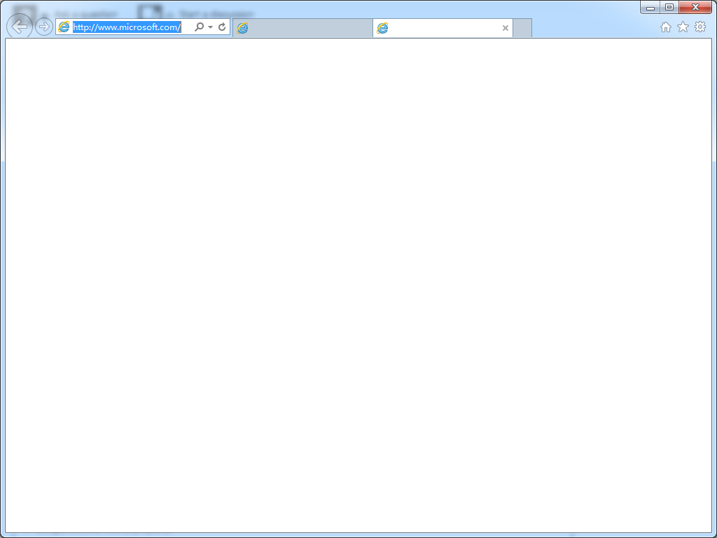 Internet Explorer Display Blank Page