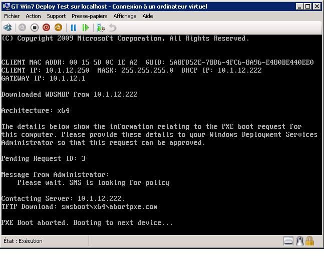 SCCM 2012 PXEBoot Error