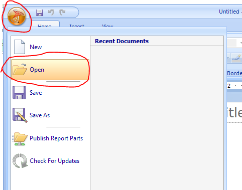 how to open report builder