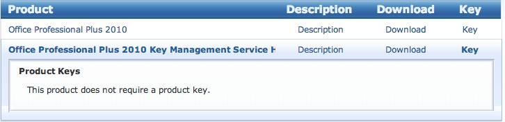 professional plus 2010 key