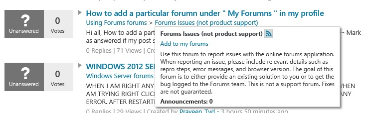 Add to my forums link