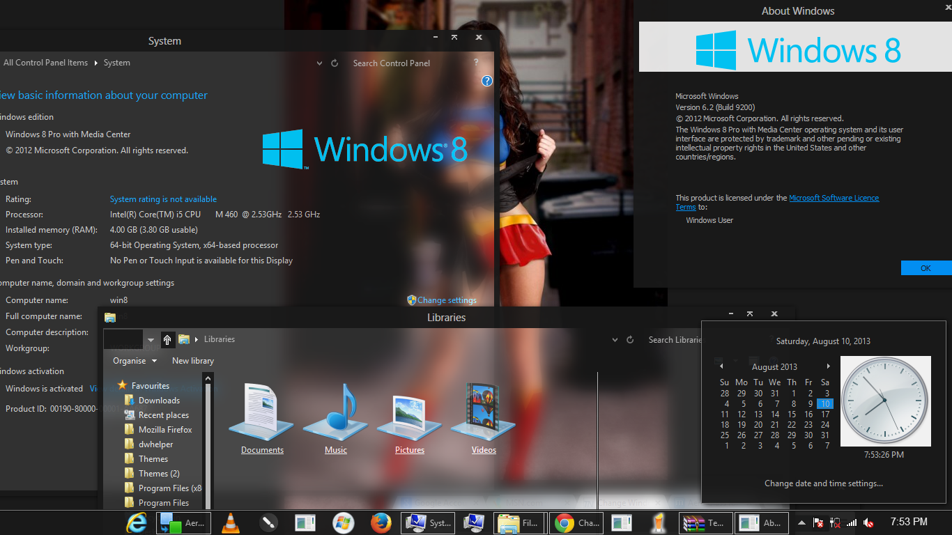 how to change windows 8.1 background color