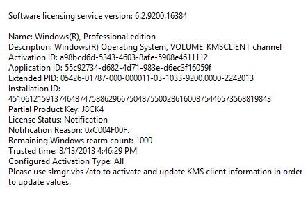 windows 8 pro product key working