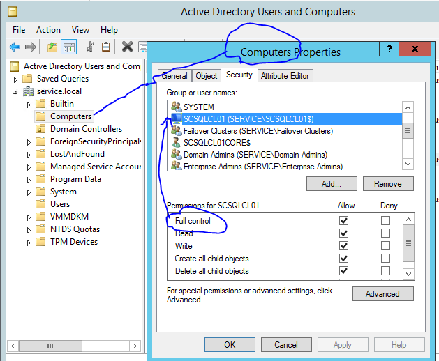 SQL 2012 Failover Cluster - unable to start because of 'Network Name