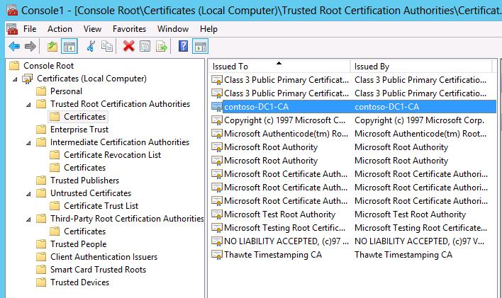 The certificate chain was issued by an authority that is not trusted of course this isnt the certificate that we need what is needed is a certificate with server authentication purpose in the certificates local yadclub Images