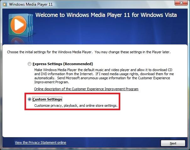 windows media player kioskea