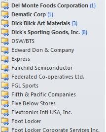 Blue Arrow Icon On Outlook Folders
