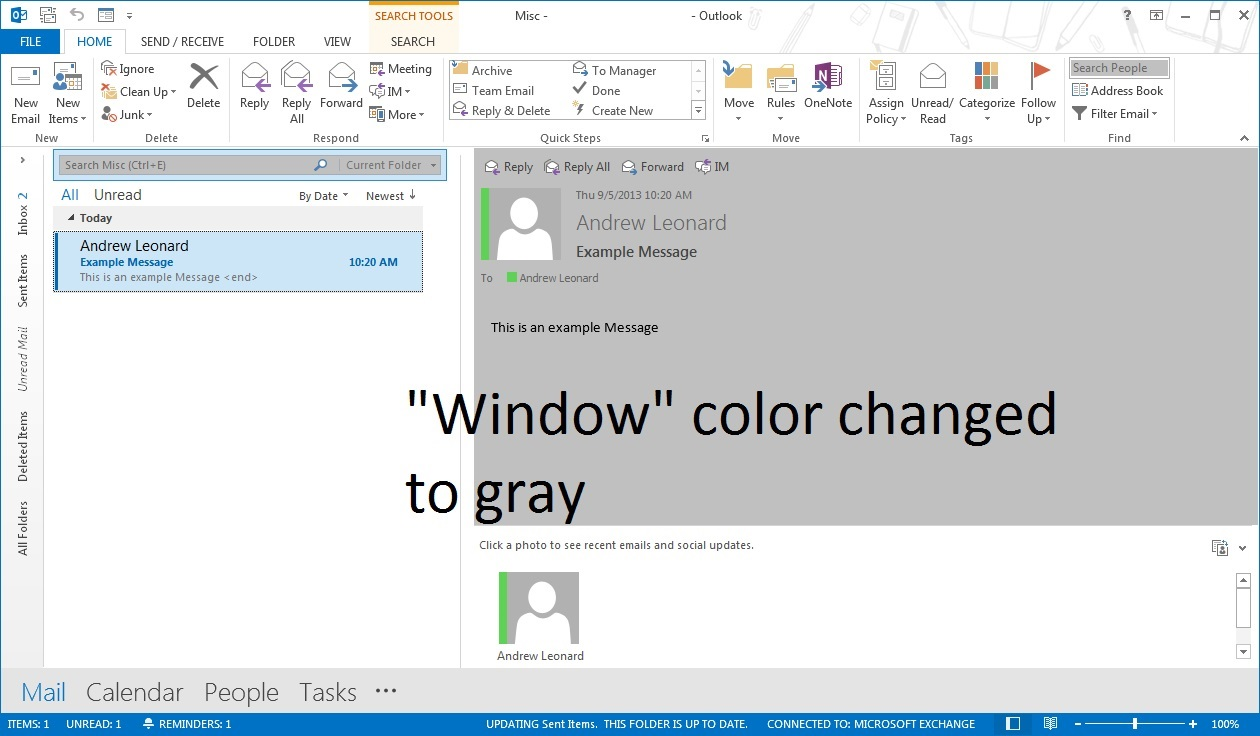 outlook 2013 office theme colors