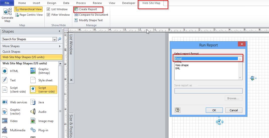 Can Visio Export A Website Map (tree) To Another Format (e