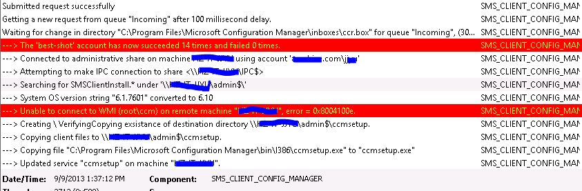 unable to connect to wmi on remote machine error 0x800706ba