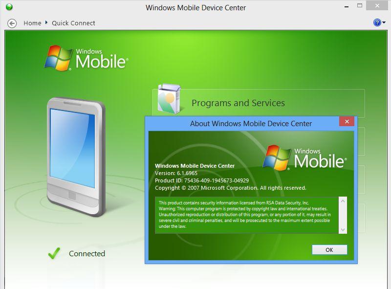 windows mobile device center 6.1