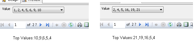 Showing selected parameter(drop-down multiple choice) values