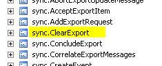 sync.ClearExport